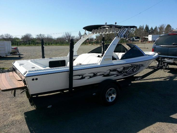 83 Malibu Skier after final makeover by James Delta Boat Repair